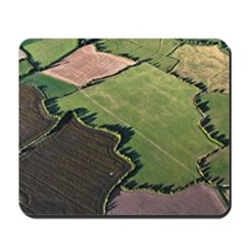Aerial of fields, UK Mousepad