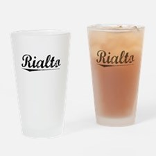 Rialto, Vintage Drinking Glass