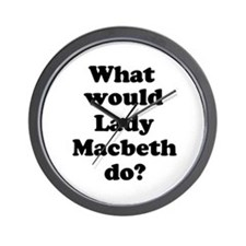 Lady Macbeth Wall Clock