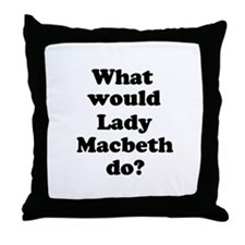 Lady Macbeth Throw Pillow