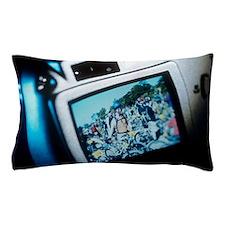 Screen on a digital camera Pillow Case