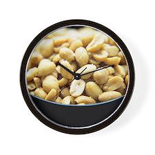 Salted peanuts Wall Clock