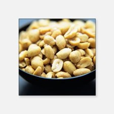 """Salted peanuts Square Sticker 3"""" x 3"""""""