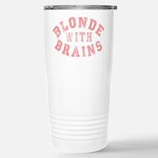Blonde with Brains Travel Mug