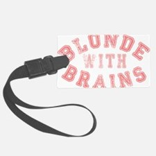 Blonde with Brains Luggage Tag