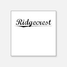 "Ridgecrest, Vintage Square Sticker 3"" x 3"""