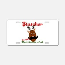 Most Famous Reindeer Aluminum License Plate