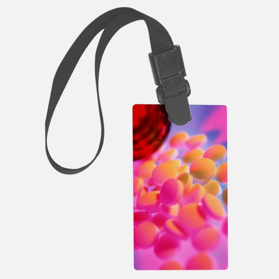 Scattered homeopathy pills next  Luggage Tag
