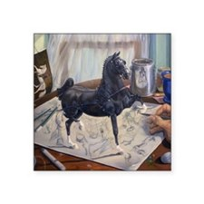 "Hackney Pony Square Sticker 3"" x 3"""