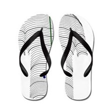 Scoliosis of the back, contour map Flip Flops