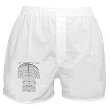 Scoliosis of the back, contour map Boxer Shorts