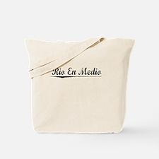 Rio En Medio, Vintage Tote Bag