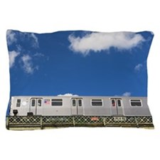 Above ground subway cars Pillow Case