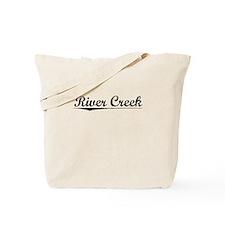 River Creek, Vintage Tote Bag
