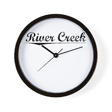 River Creek, Vintage Wall Clock