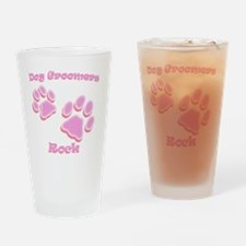 Dog Groomers Rock Drinking Glass