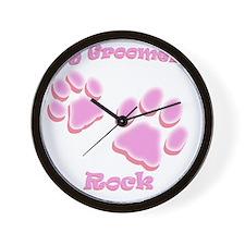 Dog Groomers Rock Wall Clock