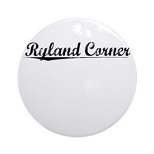 Ryland Corner, Vintage Round Ornament