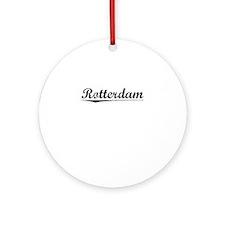 Rotterdam, Vintage Round Ornament