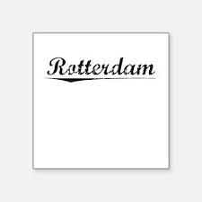 "Rotterdam, Vintage Square Sticker 3"" x 3"""