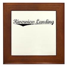 Riverview Landing, Vintage Framed Tile