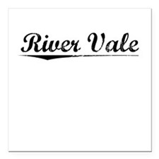 "River Vale, Vintage Square Car Magnet 3"" x 3"""