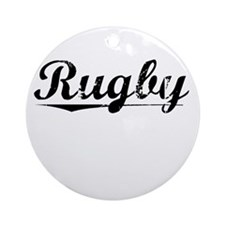 Rugby, Vintage Round Ornament
