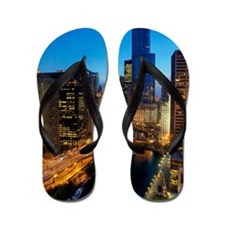 Aerial View of Chicago River and Wacker Flip Flops