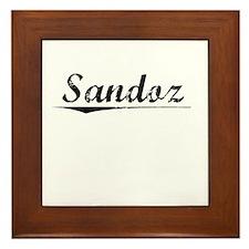 Sandoz, Vintage Framed Tile