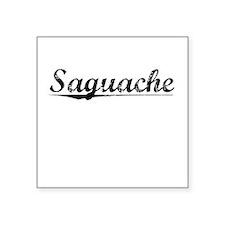 """Saguache, Vintage Square Sticker 3"""" x 3"""""""