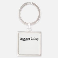 Rockport Colony, Vintage Square Keychain