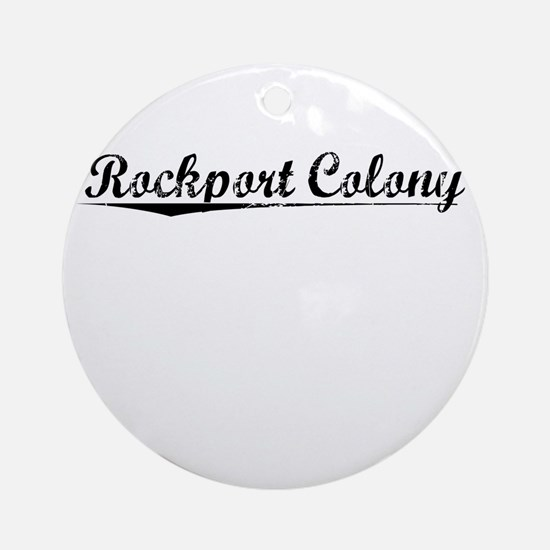 Rockport Colony, Vintage Round Ornament