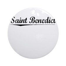 Saint Benedict, Vintage Round Ornament