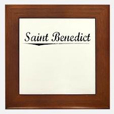 Saint Benedict, Vintage Framed Tile