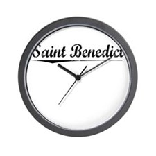 Saint Benedict, Vintage Wall Clock