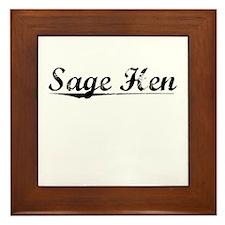 Sage Hen, Vintage Framed Tile