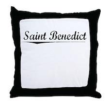 Saint Benedict, Vintage Throw Pillow