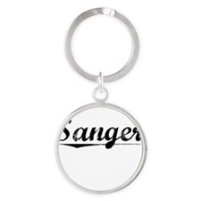 Sanger, Vintage Round Keychain