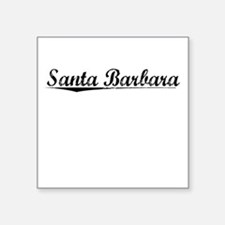"Santa Barbara, Vintage Square Sticker 3"" x 3"""