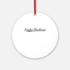 Santa Barbara, Vintage Round Ornament