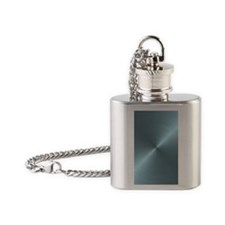 Metallic Blue Flask Necklace