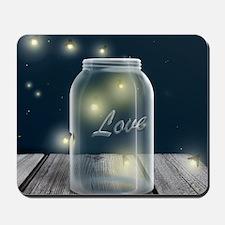Midnight Fireflies Mason Jar Mousepad