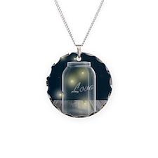 Midnight Fireflies Mason Jar Necklace