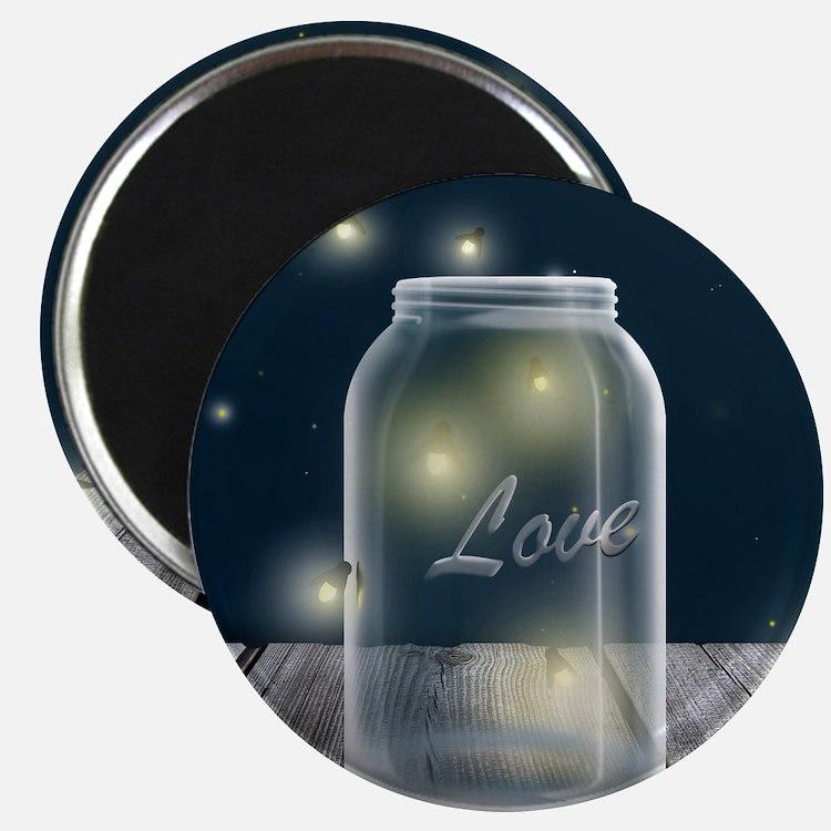 Midnight Fireflies Mason Jar Magnet