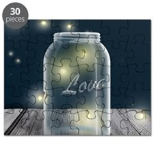 Midnight Fireflies Mason Jar Puzzle
