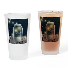 Midnight Fireflies Mason Jar Drinking Glass