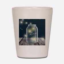 Midnight Fireflies Mason Jar Shot Glass