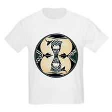 MIMBRES CHECKERED GOATS BOWL DESIGN Kids T-Shirt