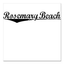 "Rosemary Beach, Vintage Square Car Magnet 3"" x 3"""