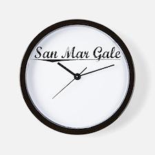 San Mar Gale, Vintage Wall Clock